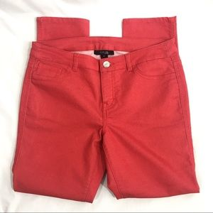 Style & Co Red Straight Leg Pants